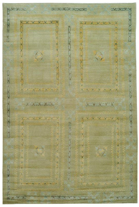 Thomas O'Brien DUFOUR Blue Aqua Navy 870a by Safavieh, wool & silk