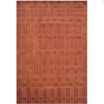 Thomas O'brien Deco Plaid Vermilion 712c by Safavieh, all wool