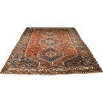 12815 semi antique persian shiraz rug 6,10 x 9,1 (1)