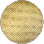 Woven Trellis Cream Tan 8x8 Round